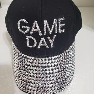 Black bling  baseball cap